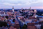 Toits de la ville, vieille ville, patrimoine mondial de l'UNESCO, Tallinn, Estonie, Etats baltes, Europe