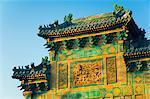 Detail of Chinese gate, Beihai Park, Beijing, China, Asia