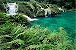 Calcaire cascade, Semuc Champey, le Guatemala, l'Amérique centrale