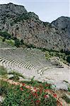 Theatre, Delphi, UNESCO World Heritage Site, Greece, Europe