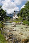 Église de Ramsau, près de Berchtesgaden, en Bavière, Allemagne, Europe