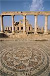 The theatre, Sabrata (Sabratha), UNESCO World Heritage Site, Tripolitania, Libya, North Africa, Africa