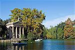 Aesculapius-Tempel, See im Garten der Villa Giulia, Rom, Latium, Italien, Europa
