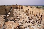 Basilique de la justice (Basilique sévérienne), Leptis Magna, UNESCO World Heritage Site, Libye, Afrique du Nord, Afrique