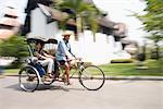 Cycle de pousse-pousse, Chiang Mai (Thaïlande), l'Asie du sud-est, Asie