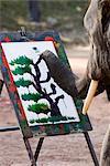 Éléphant peinture, Chiang Mai (Thaïlande), l'Asie du sud-est, Asie