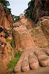 Giant Buddha, Site du patrimoine mondial de l'UNESCO, Leshan, Sichuan, Chine, Asie