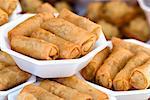 Spring rolls, Chatuchak weekend market, Bangkok, Thailand, Southeast Asia, Asia