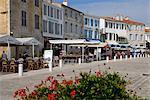 Port quai, La Flotte, Ile de ré, Charente-Maritime, France, Europe