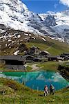 Blick auf der kleinen Scheidegg, Berner Oberland, Schweizer Alpen, Schweiz, Europa