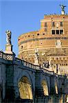 St. Angelo château (Castello San'Angelo) et St. Angelo Bridge, Rome, Lazio, Italie, Europe