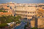 Colosseum, view from Altare della Patria, Rome, Lazio, Italy, Europe