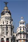 Métropole de construction, Calle de Alcala, Madrid, Espagne, Europe