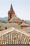 Zahara de la Sierra, l'un des villages blancs, Andalousie, Espagne, Europe