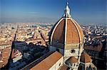 Vue depuis le Campanile de la cathédrale (cathédrale) de Santa Maria del Fiore, Florence, Toscane, Italie, Europe