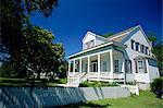 Généralement maison de planches à clin Sud, baie Saint-Louis, près de Gulfport, Mississippi, États-Unis d'Amérique, l'Amérique du Nord
