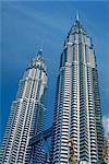 Tours jumelles Petronas, le monde du deuxième plus haut bâtiment, Kuala Lumpur, en Malaisie, l'Asie du sud-est, Asie