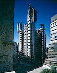 Lloyds Building, City of London, 1986. Daytime exterior. Architect: Richard Rogers Partnership