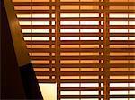 Lloret de Mar, Girona. Ground floor interior. Detail of slatted wooden screen. Architect: Anne Bugugnani