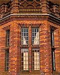 WIndows on the Daneshill Brickworks, designed and built by Sir Edwin Lutyens, 1905. Basingstoke, hampshire. Architect: Sir Edwin Lutyens.