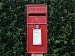 Traditional British Post Box.