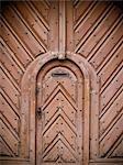 Ornate studded doorway, Hradcany District, Prague, Czech Republic