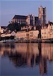 Cathédrale de St. Etienne, Bourges, Bourgogne, 1195-1220. Site du patrimoine mondial de l'UNESCO, énumérée de 1992.