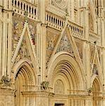 Orvieto Cathedral. 1290-1310. Facade. Umbria. Architect: Arnolfo di Cambio