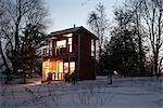 Cabin in Winter, Prince Edward County, Ontario, Canada