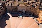 Piazza del Campo, Sienne, Toscane, Italie