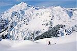 Man ski touring at artist's point