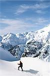 Ski touring at artist's point