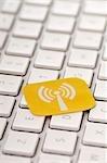 Wifi Symbol on Computer Keyboard