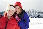 Mother and Daughter, Mount Baldy, Sun Valley, Idaho, USA