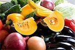 Frische Sammlungen von gemischtem Gemüse