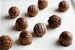 Chocolates on White Background