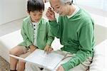 Portable affichage petit-fils de grand-père