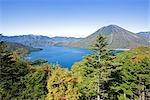 Lake Chuzenji and Nantai in Tochigi Prefecture, Japan