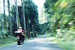 Motorbike at Daisen Mountain Tottori Prefecture,Japan