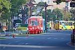 Streetcar on Tramway at Kyushu,Kagoshima Prefecture,Japan