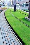 Empty Tramway at Kyushu,Kagoshima Prefecture,Japan