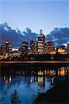Night View of  Edmonton City, Alberta, Canada