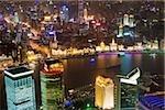Pudong, Shanghai bei Nacht