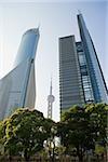 Shanghai Oriental pearl Tower und Wolkenkratzer