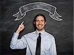 man against a blackboard