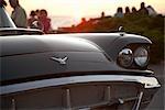 Antique Car Show at Sunset, Southampton, Ontario, Canada
