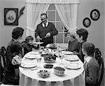 1970s RETRO DINNER TURKEY CARVING THANKSGIVING