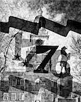 POSTÉRISATION DE 1776 BANNIÈRE SUPERPOSÉE SUR L'INDEPENDENCE HALL