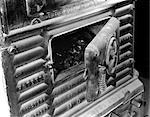 1900s DOOR ON COAL STOVE HEATER