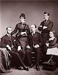 1870s 1876 NOSTALGIC FAMILY PORTRAIT